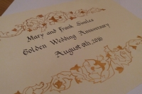 Calligraphy Anniversary Guest Book Inscription