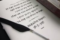 Wedding Guest Book Inscription