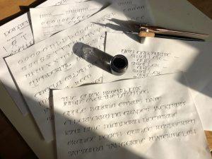 Pointed Pen Uncials