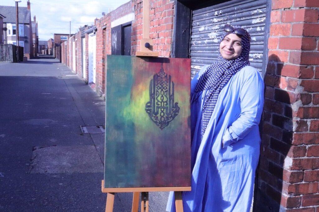 srijoni artist arabic calligraphy
